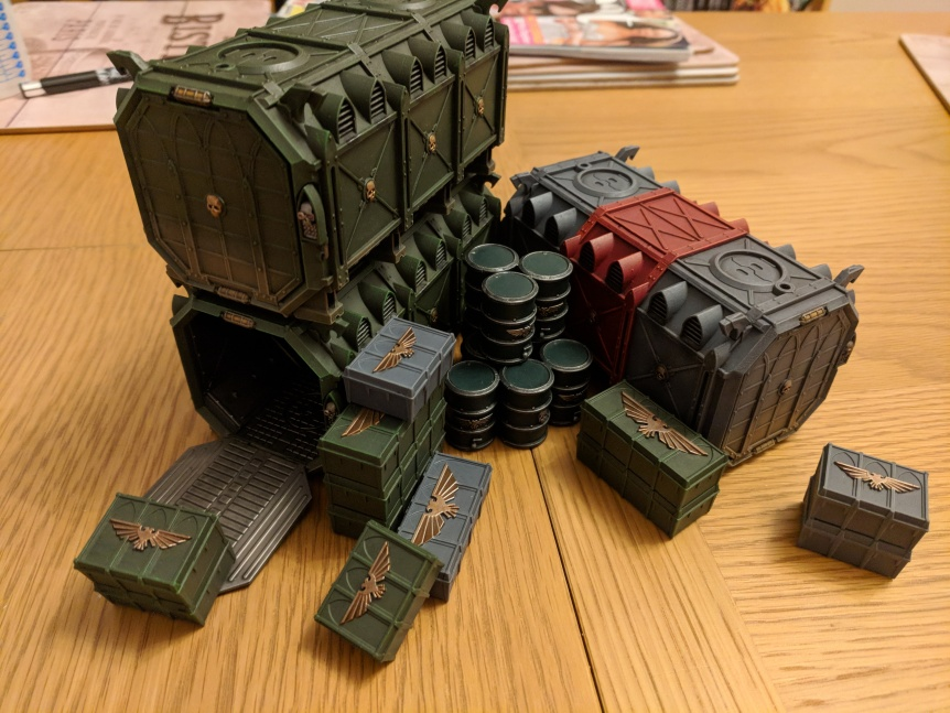 Project Update – Munitorum Armoured Containers & Vengeance Weapon Battery